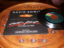DAVID BOWIE CAT PEOPLE Ricordi Italy 1982  7 ..... 45 Giri Mps