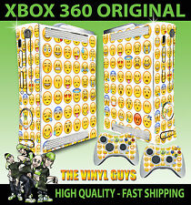XBOX 360 EMOJI FACES ICONS MOODS SMILEYS STICKER SKIN & 2 CONTROLLER PAD SKINS