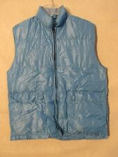 S4755 Men's XL Blue Lightweight Down Full Zip Puffer Vest With 4 Pockets
