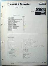 PHILIPS el3556 REGISTRATORE Service Manual, edizione 04/67