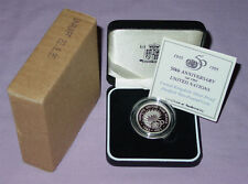 1995 ROYAL MINT UNITED NATIONS SILVER PIEDFORT PROOF £2 COIN - Full Packaging