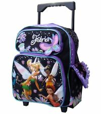 "Tinkerbell Large 12"" Small Rolling Backpack by Disney For KID - Licensed product"