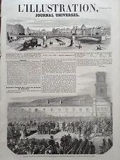 L' ILLUSTRATION 1854 N 617 RECEPTION A TOULON DES RESTES DU Gal.  HENRI LOURMEL