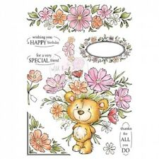 Wild Rose Studio - A5 Clear Rubber Stamps - Milton - Flowers - 002 - New Out