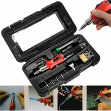 HS-1115K 10-in-1 Professional Butane Gas Soldering Iron Set Welding Kit Torch