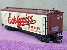 ATLAS O SCALE #6705-1 EDELWEISS BEER 40' REBUILT WOOD REFRIGERATOR CAR