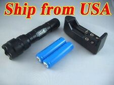 Rechargeable Flashlight with CREE XM-L T6 1000 Lumens LED, 2 batteries & charger