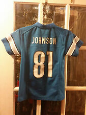 Calvin Johnson Detroit Lions Nike Jersey #81 Youth S (8) GT Yellow Jackets Buzz