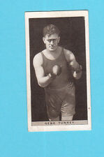 Gene Tunney Boxing Drumhead Cigarettes Tobacco Card