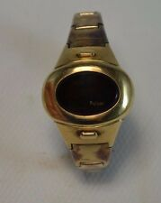 70's Pulsar 14k Gold Filled Time Computer DIGITAL LED LADIES Watch ORIGINAL BAND