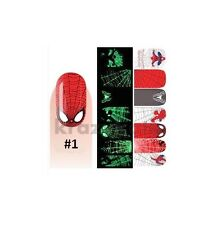 Spiderman Melodi Glow in the Dark Nail Wrap Patch Self Adhesive Stickers