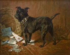 Emms John A Naughty Black Pug Print 11 x 14  #6270