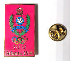 RARE TONGA NOC OLYMPIC PIN / ATLANTA 1996 OLYMPIC GAMES / RECTANGULAR CREST
