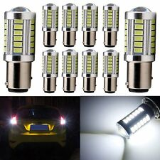 10Pc BA15S P21W 1156 LED Turn Backup Bulbs 33SMD 5630 5730 Reverse Light Turn12V
