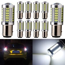 10x White 1156 BA15S P21W LED 33SMD Turn Backup Signal Backup Reverse Light Bulb