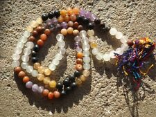Mixed gemstone japa mala beads 108 beads ~ meditation, prayer