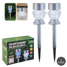 GardenKraft 12780 couleurs changeantes led post lumières ou tbl lanterne, set de 2