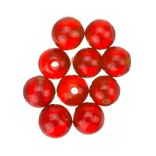 Transparent Red Round Glass Beads 8mm Pack of 10 (A38/1)