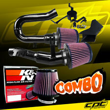 07-10 BMW 335i 3.0L L6 E90/E92/E93 Black Cold Air Intake + K&N Air Filter