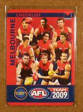 MINT 2009 AFL Teamcoach Checklist Melbourne