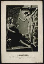 santino incisione 1800 S.PELLEGRINO LAZIOSI DA FORLI'
