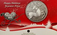 2012 CANADA $20 Happy Holidays, PURE .9999 SILVER COMMEMORATIVE COIN