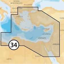 NAVIONICS PLATINUM+ XL3 34P+ EASTERN MEDITERRANEAN MSD CARD with SD ADAPTOR
