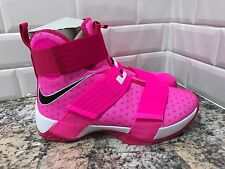 Nike Lebron Soldier 10 Vivid Pink Breast Cancer Kay Yow SZ 9 844374 606