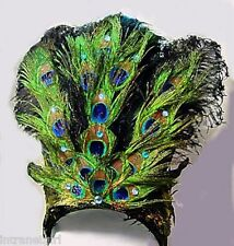 Peacock Ostrich Feather Showgirl Feather Headdress Headpiece NEW