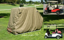 "4 Passengers Golf Cart Cover (with 2 seater roof up to 58"") Fit EZ Go,Club Car"