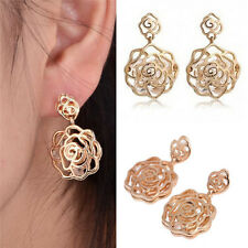 Beautful Flower Ear Stud Cute Korean Fashion Jewelry Rose Earrings Jewelry Gift