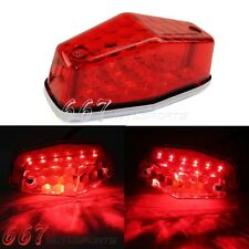 Red Lucas Type 525 Led Rear Tail Light Assembly For Triumph BSA Norton 1948-55