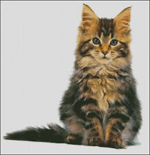 """Goldmilky Cross stitch kit """"Maine Coon Cat Christian"""" 16x16 inch (a30)"""