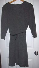 Beige by ECI Womens Plus Size 22/24 Long Sleeve Fall Winter Gray Dress with Belt