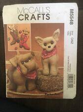 McCalls Pattern 5548 Pets Stuffed Dog Toy Chihuahua Bulldog Christmas Stocking