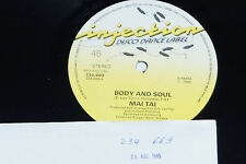 "MAI TAI -Body And Soul- 12"" 1985 Injection Disco Dance Label Archiv-Copy mint"