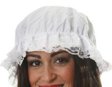 Girls Kids Fancy Dress Victorian Maid Mop Cap Elasticated White 1 Size New