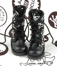 ☆╮Cool Cat╭☆【13-02】Blythe Pullip Doll Shoes Boots # Skeleton Black