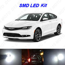 7 x White LED Interior Bulbs + License Plate Lights for 2015 2016 Chrysler 200