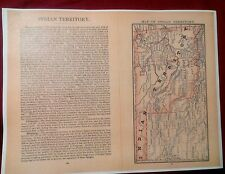 1885 Indian Territory Map & Tribes, History, Topography, Details ++ Poster Repo