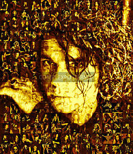 LARGE ORIGINAL MOSAIC PHOTO POSTER IN VARIOUS COLOURS OF MICHAEL HUTCHENCE No 8