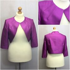 Alexon Ladies Purple Pink Mauve Formal 3/4 Sleeve Bolero Shrug Jacket Size 20
