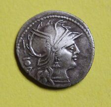 La Repubblica Romana Monetazione ha Colpito L. Postumio Albino Argento Denarius 131 A.C.