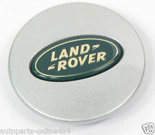 LAND ROVER DISCOVERY 2 1998 04 ALLOY WHEEL SILVER CENTRE CAP - 63MM-LR001156
