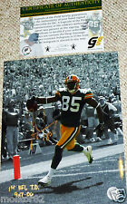 GREEN BAY PACKERS Greg Jennings Signed 1st NFL TD Inscribed 8x10 PHOTO COA HOLO