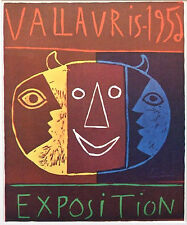 PABLO PICASSO vintage mounted poster print, Vallauris 1956, affiche PP16