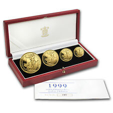 1999 4-Coin Gold Britannia Proof Set (w/Box & COA) - SKU #83530