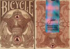 BICYCLE BRANDED RESERVE NOTE WHITE EDITION PLAYING CARDS DECK BY JACKSON RARE