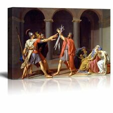 """Oath of the Horatii by Jacques-Louis David - Canvas Print Wall Art - 24"""" x 36"""""""
