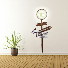 Wall Sticker LED Light Lamp Home 0 Wallpaper Vinyl Decal Home Decor Art Street